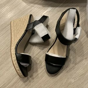 Steve Madden Maya Espadrille Wedge Sandals Black